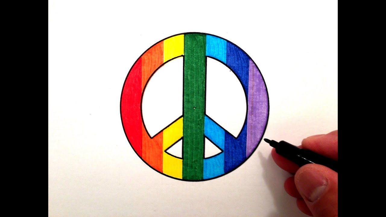 How to draw a cool peace sign youtube biocorpaavc