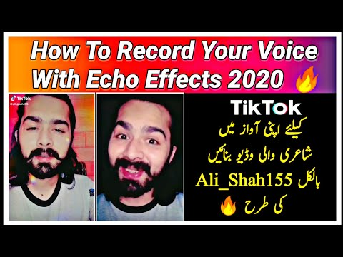 How To Record Your Voice Professionally With Echo || Like #Ali_Shah155 on Tiktok