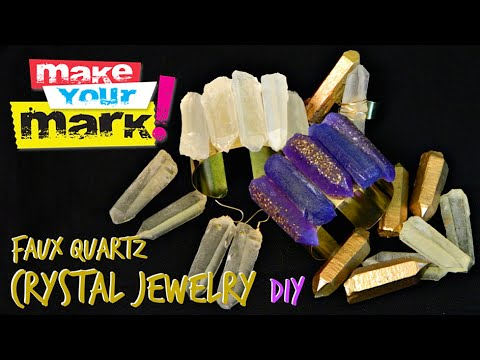 How to: Faux Quartz Crystal Jewelry