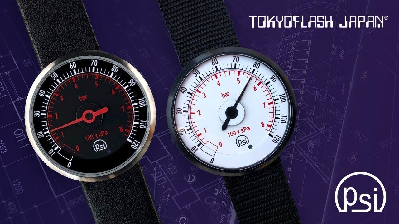 Tokyo Flash PSI // Silver (Leather Strap + Black Dial) video thumbnail
