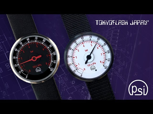 PSI | Pressure Gauge One-Hand Watch | Tokyoflash Japan