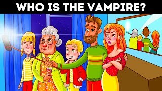 18 Detective Riddles And Vampire Picture Puzzles To Sharpen Your Brain!