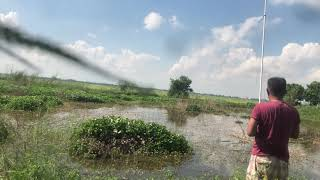 Download Fly fishing @ remote area in Cambodia. with Khmer RoCK Song. @ sunny day around 38 degree C.