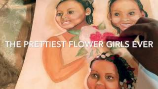 Drawing the Prettiest Flower Girls Ever