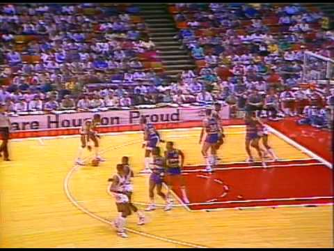 April 26, 1986 Nuggets@Rockets (Olajuwon 38p 16rb, English 34p, Sampson 20p, The twin towers!!!!!)