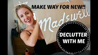 DECLUTTER MY CLOSET WITH ME// MADEWELL FALL LINE CLOTHING HAUL