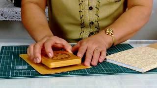 Caderno com Forração de Tecido
