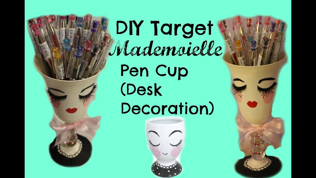 DIY Target Mademoiselle Pen Cup (Desk Decoration)