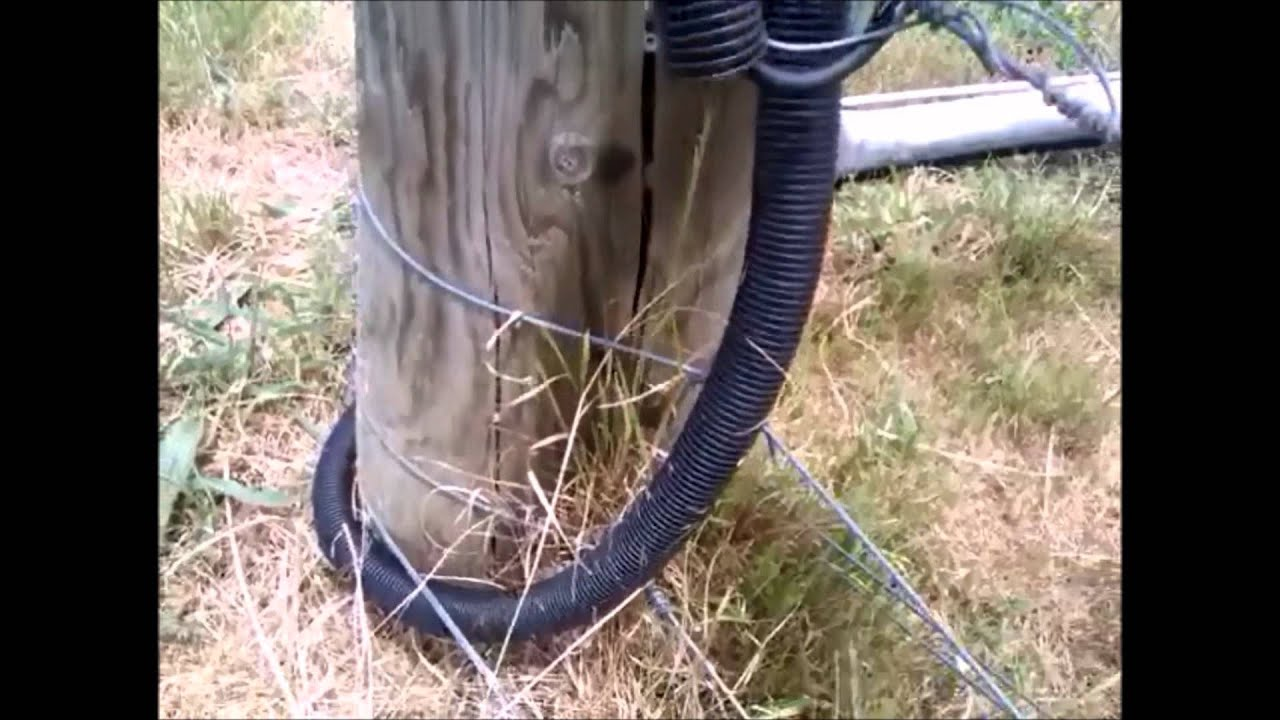 How To Connect Electric Fence Across Gate Youtube Underground Pipe Buy Flex Wireunderground Electrical