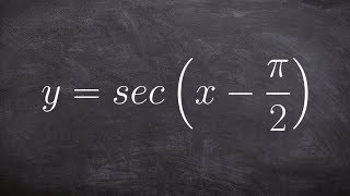 tutorial graph the secant function with a phase shift of pi halves ex 4 y sec x pi 2