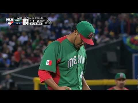 Mexico V USA (5-2) Baseball Highlights - World Baseball Classic Round 1 [08/03/2013]