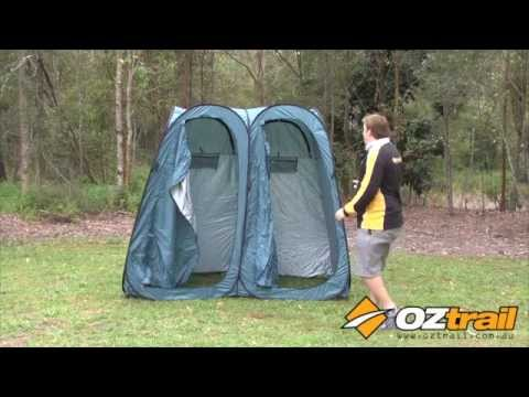 OZtrail Pop Up Ensuite Duo Dome & OZtrail Pop Up Ensuite Duo Dome - YouTube