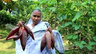 Cooking Fresh and Natural Banana Flower recipe by our Granny | Grandma
