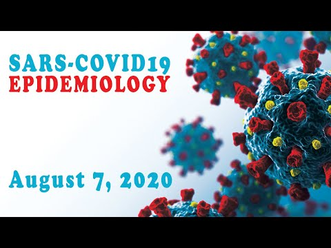 Covid Virus update: US dropping 9% & Death up 24%, India, August 7- part 1