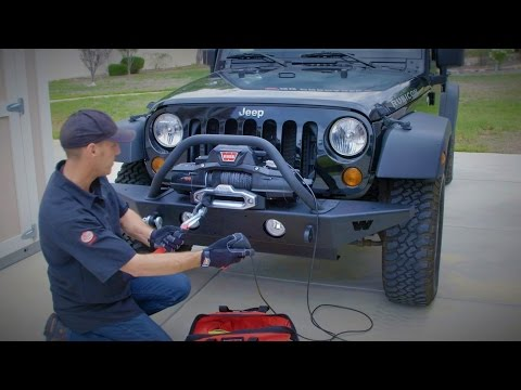 Warn Bumper and Zeon Winch Install - How To Upgrade Jeep Wrangler JK