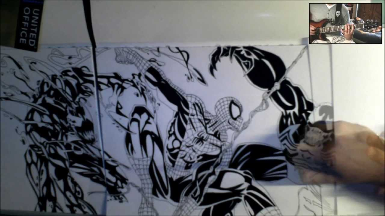 Spiderman Vs Venom Carnage Drawing Youtube