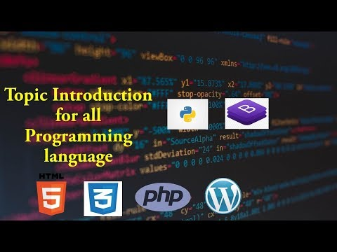 Topic Introduction | html&css | python tutorial | php tutorial thumbnail