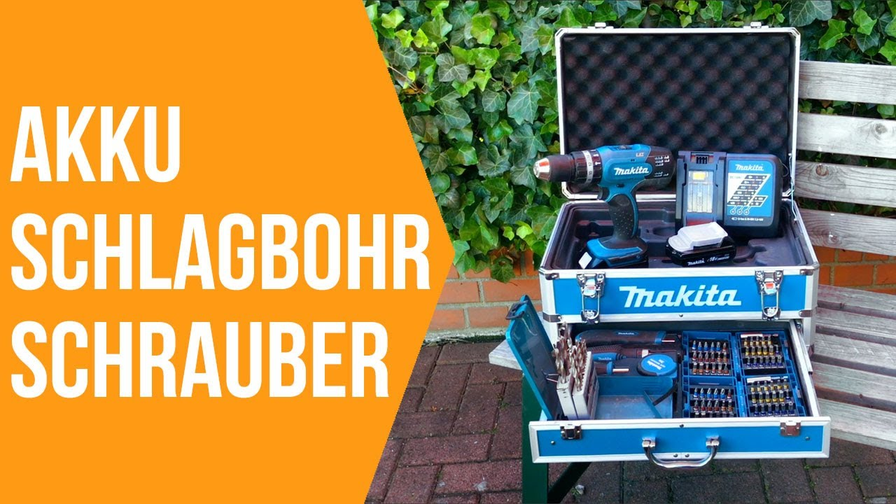 makita 18 volt akku schlagbohrschrauber set im test 18v akkuschrauber review youtube. Black Bedroom Furniture Sets. Home Design Ideas