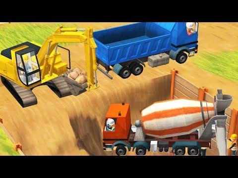 New Fun Construction Games for Children - Trucks, Cranes, Digger -   Little Builders Kids Games