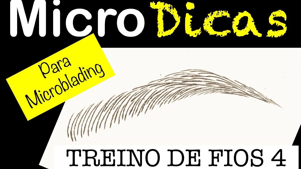 Microblading Treino De Fios 4 Passo A Passo