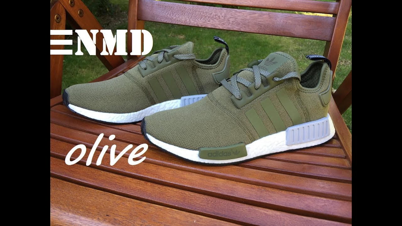 f065ce29602d NEW Adidas NMD R1 Olive Green - Unboxing   On Feet HD - YouTube