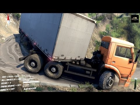 SPINTIRES 2014 - The Hill Map - C 6522 Truck + Trailer Unlocking the Second Garage thumbnail