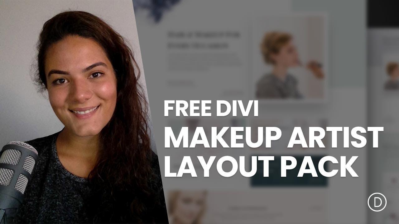 Get a FREE Makeup Artist Layout Pack for Divi | Elegant