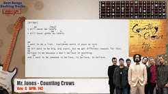 Mr. Jones - Counting Crows Guitar Backing Track with chords and lyrics