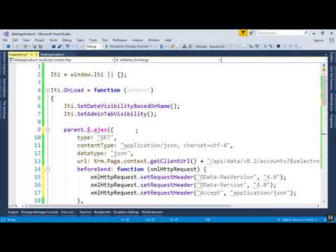 Intro to Dynamics CRM - 28 - Web API - YouTube