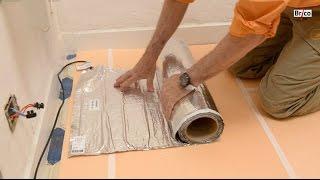 Installer un sol chauffant dans la salle de bain-Tuto brico de Robert pour la pose de sol chauffant
