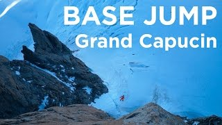 Grand Capucin base jump Chamonix Mont-Blanc - 11264