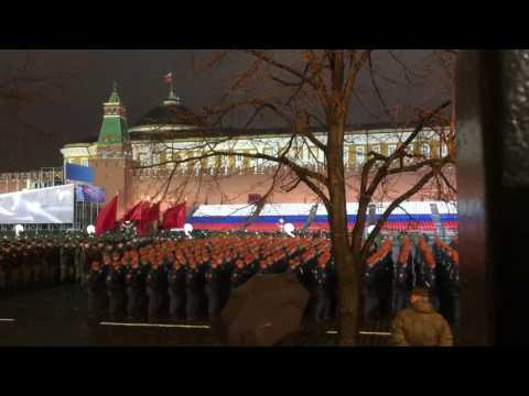 First Night Rehearsal 2017 Russian Army Parade (Back Angle)