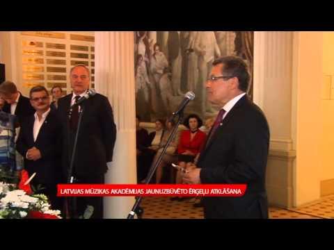 Jāzepa Vītola Latvijas Mūzikas Akadēmijas jaunuzbūvēto ērģeļu atklāšana