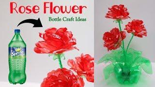 Bunga mawar dari Botol Plastik Bekas ! Rose from Plastic bottle craft Ideas