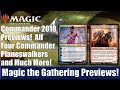 MTG Commander 2018 Previews: All 4 Commander Planeswalkers and 16 More Cards