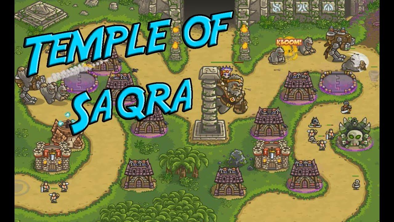 Kingdom Rush Frontiers - Temple of Saqra - Veteran 3 Stars