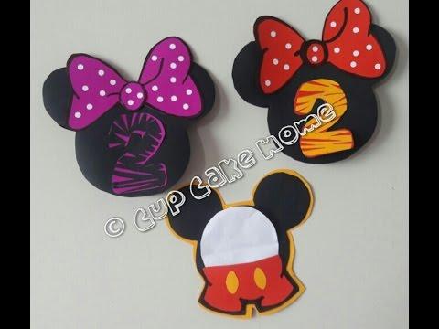 Haz Tus Invitaciones De Mickey Y Minnie Youtube