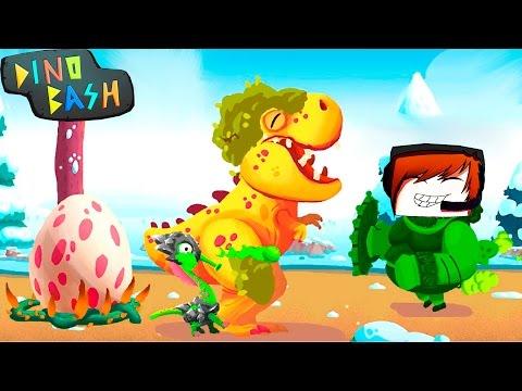 DINO BASH Атака Троглодитов #20 Дино Баш игра про динозавров веселое видео для детей Dinosaurs game