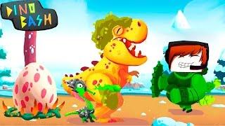 Смотреть DINO BASH Атака Троглодитов #20 Дино Баш игра про динозавров веселое видео для детей Dinosaurs game онлайн