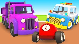 Helper Cars Cartoons Full Episodes: Learn Vehicles for Kids - Learn Colors with Cars for Kids