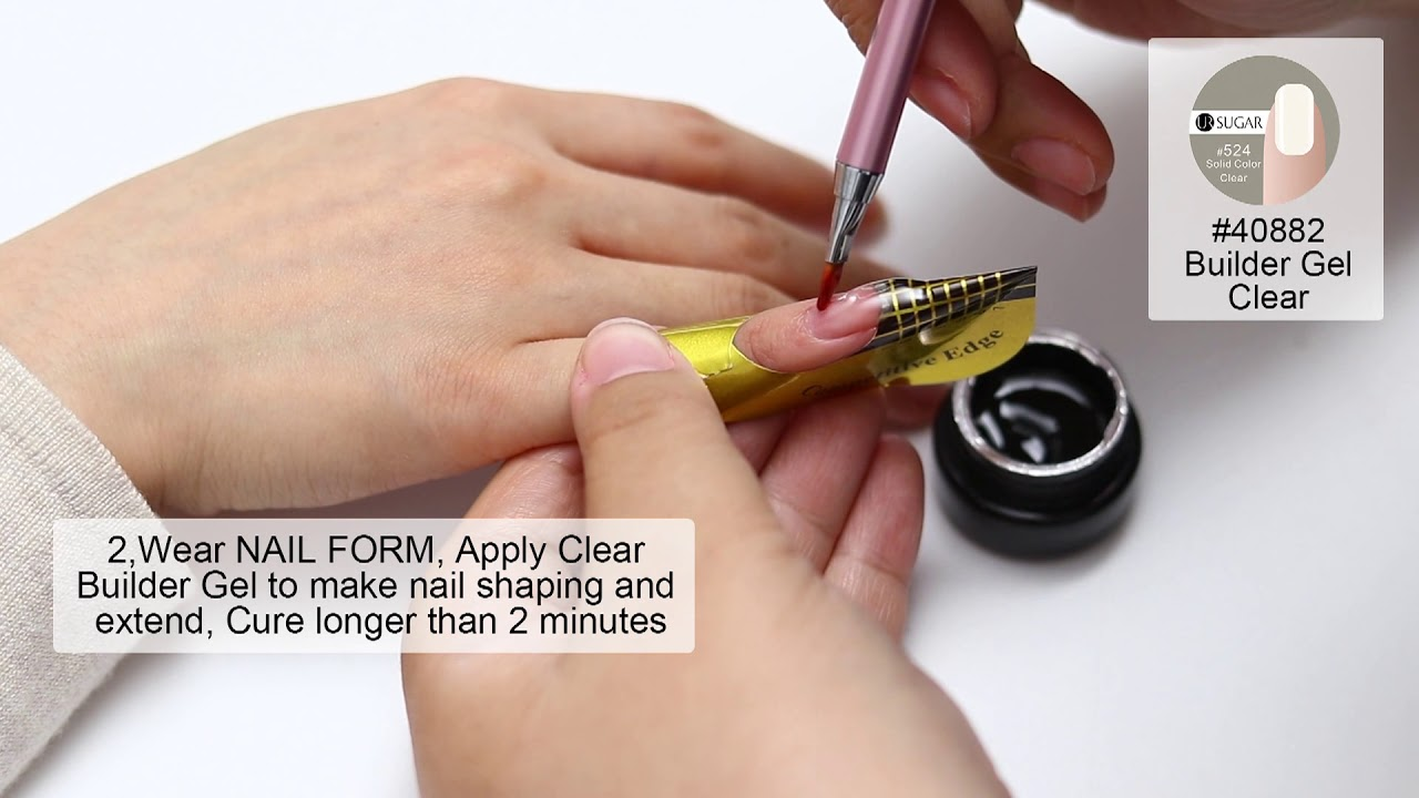UR SUGAR Semi-transparent Builder Gel and French Nails - YouTube