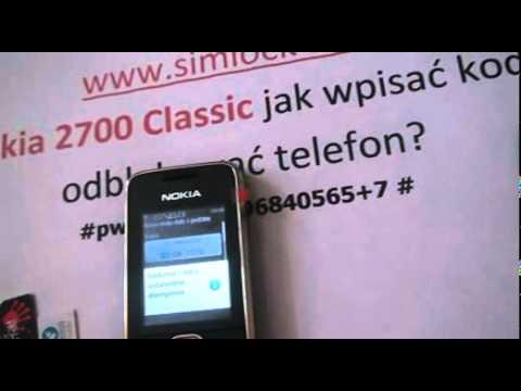 Simlock Nokia 2700 Classic jak wpisać kod - Odblokowanie simlocka