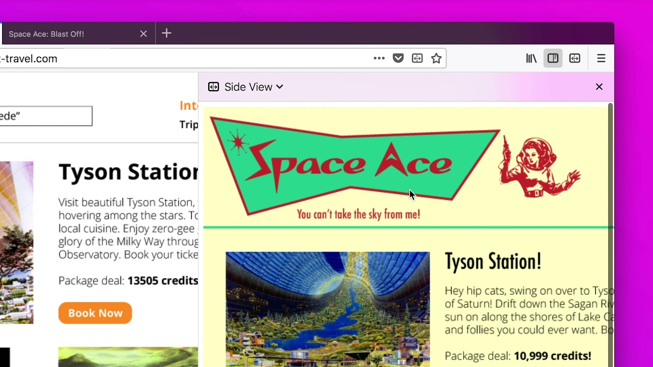 It's A New Firefox Multi-tasking Extension: Side View | The