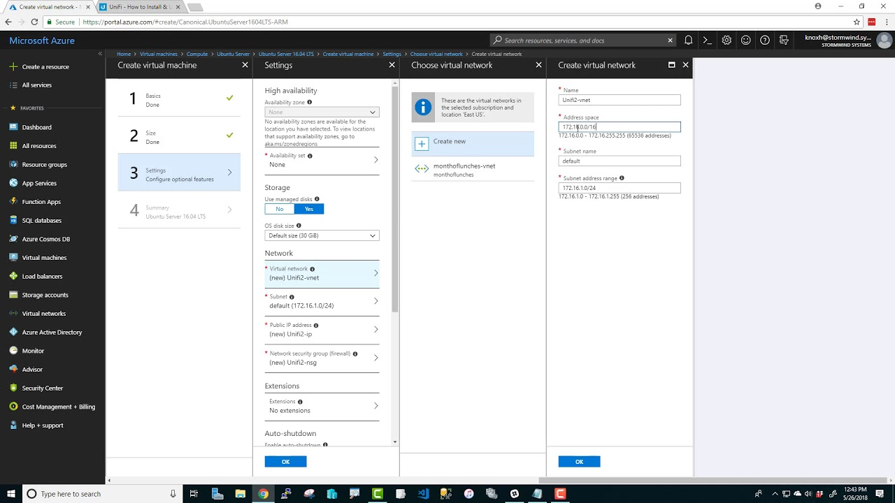 Azure: Let's make a Unifi Controller Linux virtual machine!