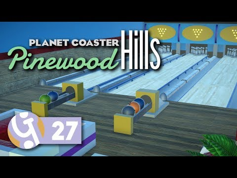 Bowling Alley | Pinewood Hills | Let's Play Planet Coaster #27