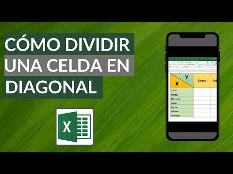 Cómo Dividir una Celda en Diagonal y Escribir para Tablas de Doble Entrada en Excel