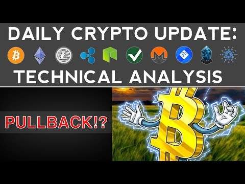 CRYPTOS PULLBACK AFTER MASSIVE BOUNCE! (12/9/17) Daily Update + Technical Analysis