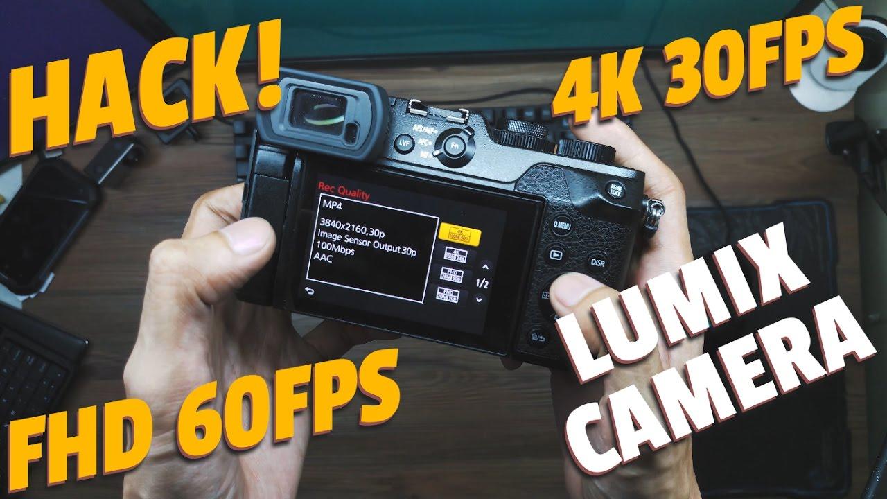 How to Unlock/Lock Any Lumix Camera (4k/30fps, 1080p/60fps)