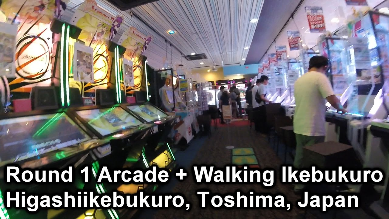 Walkthrough of a 10 floor Arcade (Round 1) + Ikebukuro Square