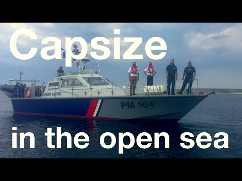 Capsize in the open sea